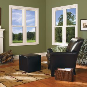 Wooden double hung ajar style windows
